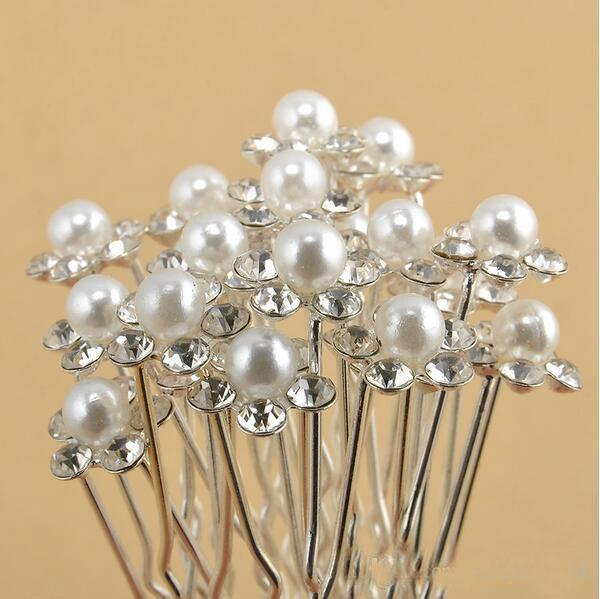 2018 Top Selling Cheap Bridal Wedding Accessories Pearls Flower Hairpins Crystal Hair Pins Clips Hair Jewelry
