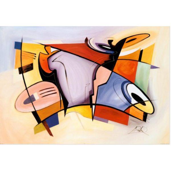 moderne abstrakte Gemälde Alfred Gockel Celebration Handgemaltes Öl Hohe Qualität