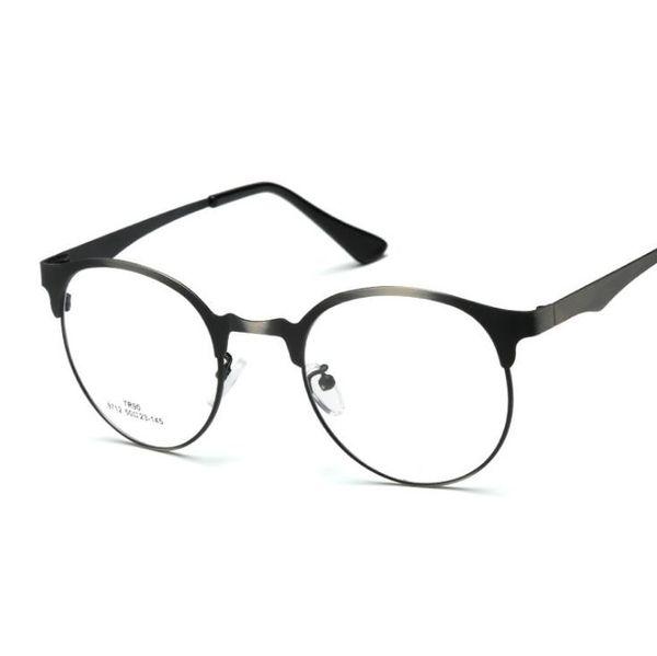 Eye Glasses Frame Alloy Style Unisex Hipster Vintage Retro Classic Half Frame Glasses Clear Lens Nerd Eye-wear gls001