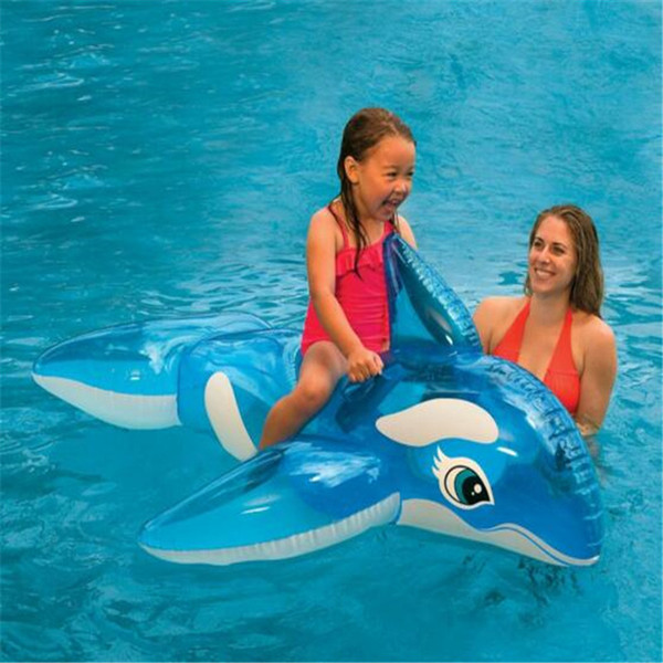Swimming Pool Inflatable Beach Toys Transparent Blue Whale Floating Ring Children Water Rides Toy Kids Outdoor Toys Sport