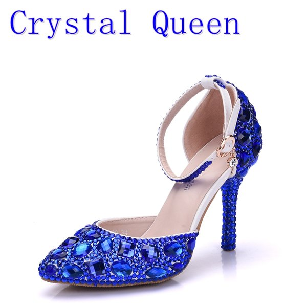 Marineblau High Heels Schuh