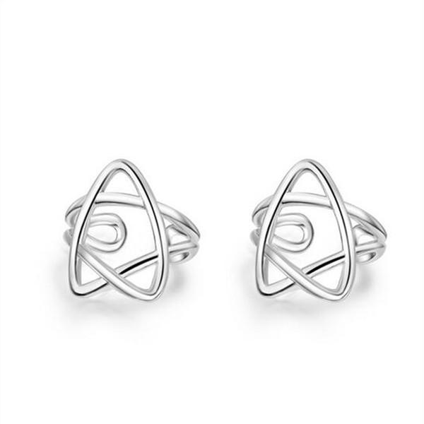 best selling No Hole Clip On Earrings Silver Stars Ear Cuffs For Women Punk Hollow Star Ear Clips Cartilage Earring No Pierced
