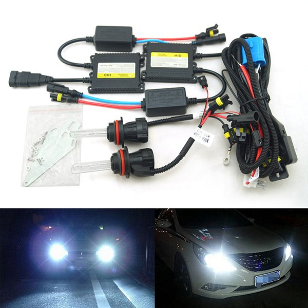 LEEWA 35W AC Car Headlight 9004 9007 Xenon Bulb Hi/Lo Beam Bi-Xenon Bulb Light Digital Slim Ballast HID Kit #4479