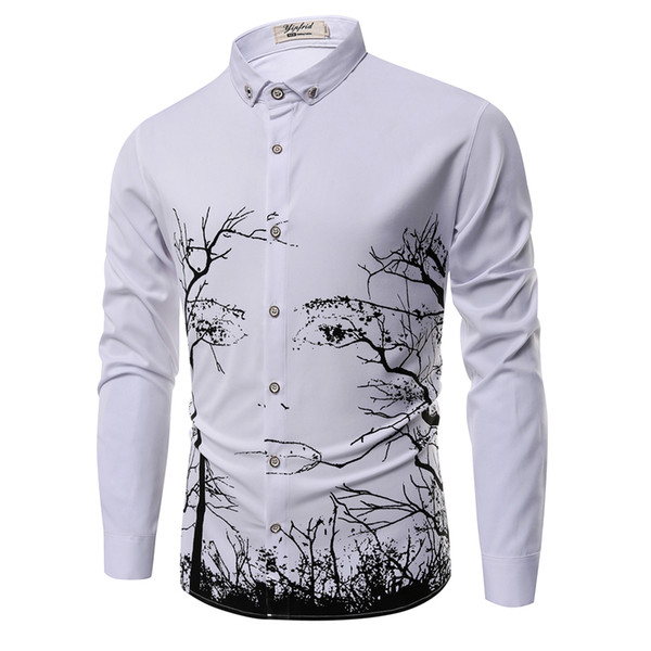 All'ingrosso-Taglie forti abbigliamento di marca 2017 nuova primavera cotone camicia a maniche lunghe da uomo camicie Business casual moda Slim camicia XXXL