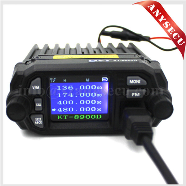 top popular Upgraded Version QYT KT-8900D Dual band 144 440MHZ Mobile radio 25Watts Large LCD Display KT8900D Walkie talkie Quad Display 2021