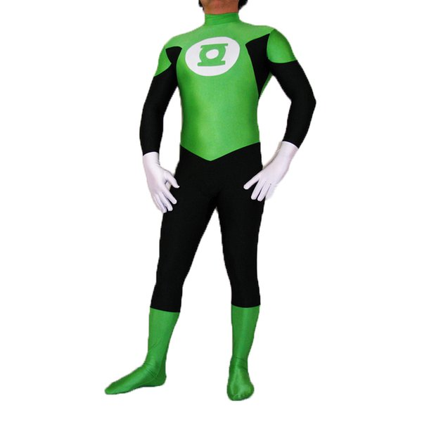 DC Comics Green Lantern Spandex Superhero Costume Halloween Cosplay Party Zentai Suit
