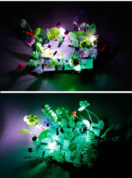 Dual 12 special offer luminous sell Meng artifact Funny grass sprouts flower hairpin hairpin luminous plant scenic hot