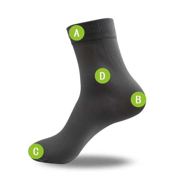 10 Pairs erkek Kısa Bambu Elyaf Çorap Çorap Orta Çorap Büyüleyici Yüksekliği Kaliteli