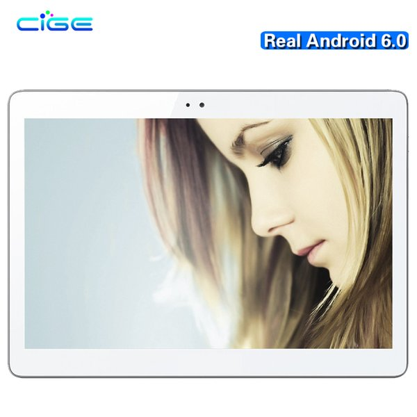 Wholesale- CIGE Newest A5510 3G 4G LTE Android 6.0 10.1 inch tablet pc octa core 4GB RAM 64GB ROM 5MP IPS Tablets Phone MT8752