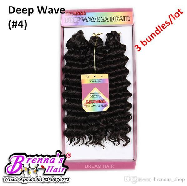Ombre freetress Crochet Braid Bundle GLANCE BRAID 3X BOHEMIAN SOUL CURL HAIR EXTENSION SYNTHETIC BRAIDING HAIR BUNDLES WATER WAVE DEEP TWIST