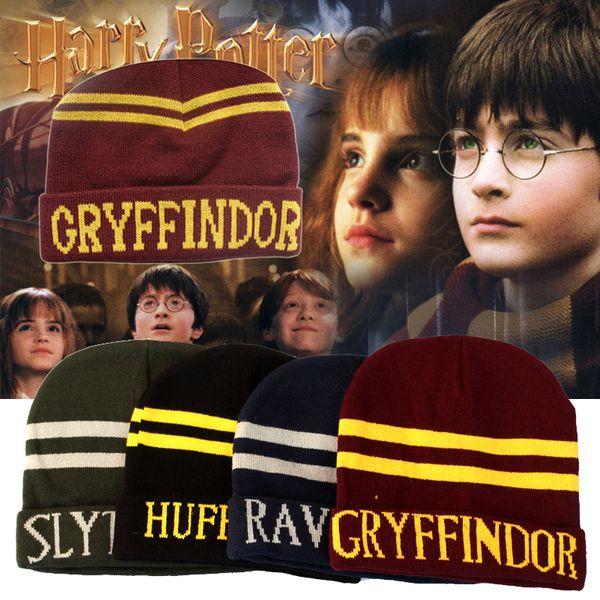 Harry Potter College Hat 4 Roles 4 Color Gryffindor Hufflepuff Slytherin Ravenclaw Halloween Cosplay Novedad Juguete OTH610