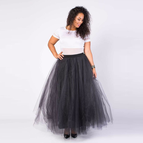 wholesale dealer 25c29 0a99b Acquista Gonna Tutu Nera A Sbuffo Una Linea Di Lunghezza Del Pavimento  Gonna Lunga Gonna In Tulle Lungo Gonne Donna Moda A $62.07 Dal Chris779 |  ...