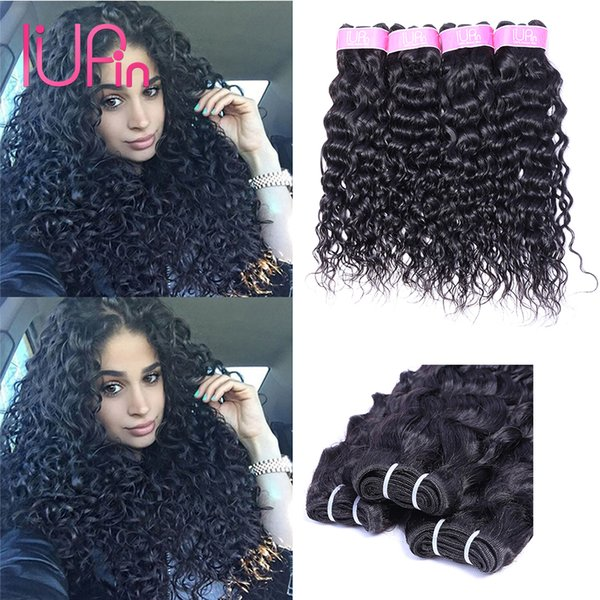 best selling 8A Brazilian Virgin Human Hair Bundles Water Wave 4 Bundles Malaysian Peruvian Indian Brazilian Hair Extensions Wet And Wavy Hair Weaves