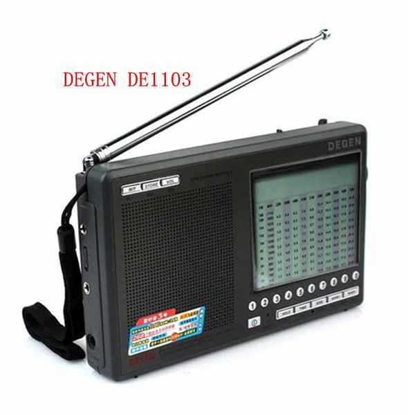Wholesale-High quality Degen DE1103 DSP Radio FM SW MW LW SSB stereo World Receiver External Antenna digital portable Radio free shipping
