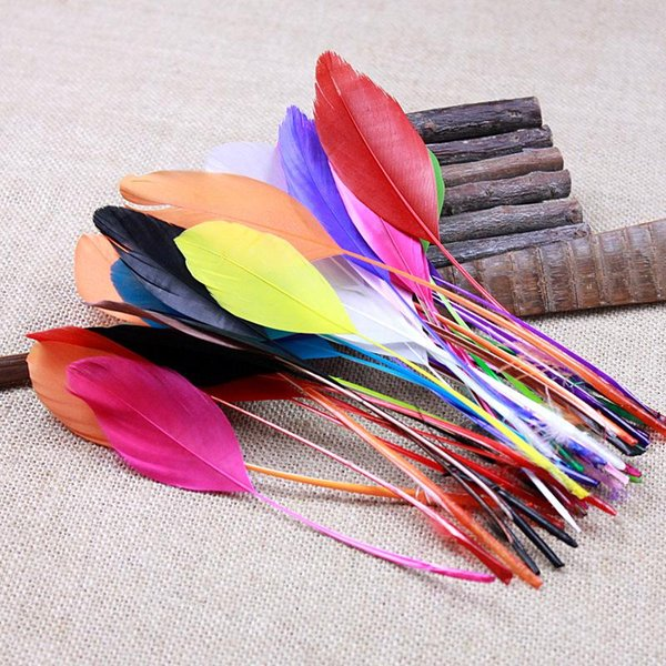 25Pcs Goose Feather Chicken Feather Rooster Feather Clothing hat Necklace earrings wedding accessories Decorative 14 to 16cm