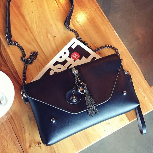 steampunk Skull bag vintage envelope clutch bags women leather hand bag chain messenger shoulder bags female briefcase handbags