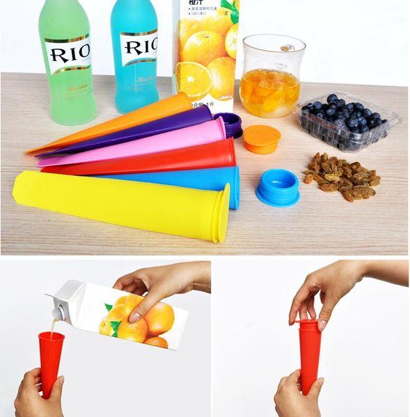 100pcs Silicone Pop Yogurt Push Up Ice Cream ice Lolly Pop Maker Frozen Stick Jelly Popsicle Mould Mold DIY