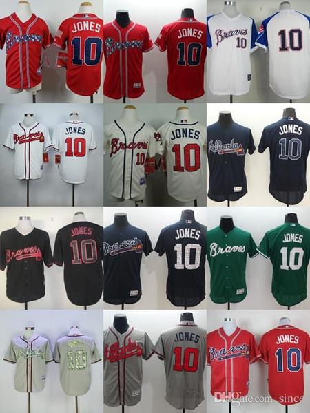 96b55e3fe White 1974 Throwback MLB Jersey Factory Outlet Mens Womens KidsYouth Atlanta  Braves 10 Mens Women Youth Atlanta Braves 10 CHIPPER JONES ...