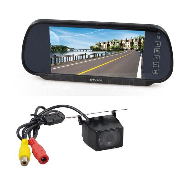 7inch LCD Display Rear View Mirror Monitor Car Monitor + IR Night Vision Rear View Car Camera Parking Assistance System Kit