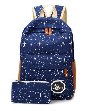 Çanta Moda Yıldız Tuval Kadın Erkek Tuval Sırt Çantası Okul Çantaları Okul Çantası Naylon kız Erkek Gençler Için Rahat Seyahat çantaları Sırt Çantası