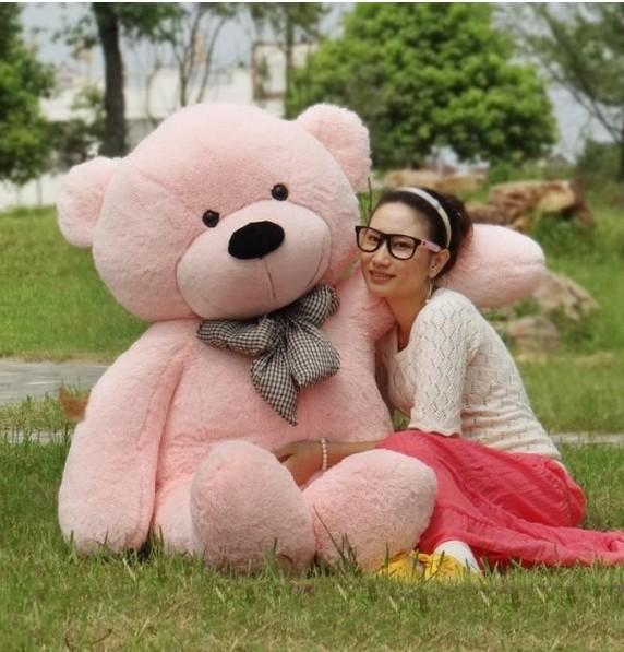 """2018 High quality free shipping 6 FEET TEDDY BEAR STUFFED LIGHT BROWN GIANT JUMBO 71"""" size:180cm Valentine's day gifts"""