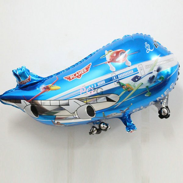 15pcs/lot plane mylar balloon helicopter inflatable toys child foil helium plane balloons party decoration big airliner balloons