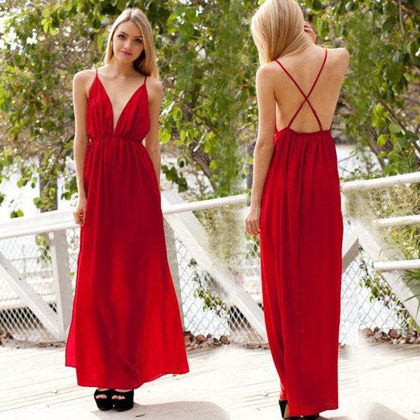 Modest 2017 Red Evening Party Dresses Ankle Length Sexy Spaghetti Straps Sleeveless Maxi Skirts Long Prom Gowns Vestido de gala