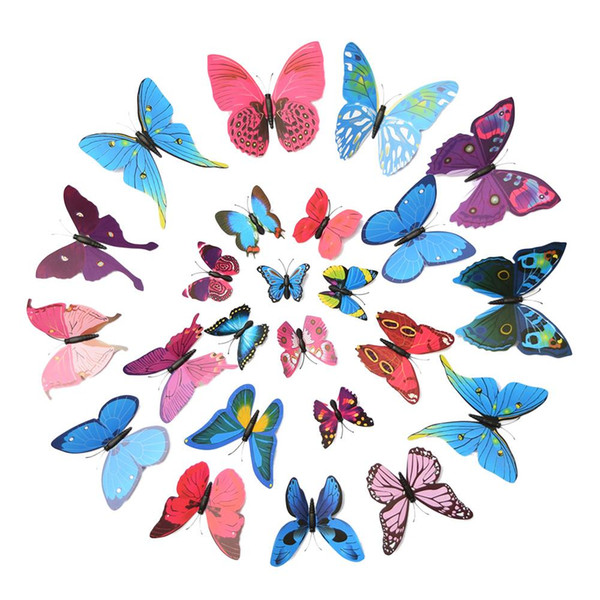 12 PCS 3D Butterfly Wall Sticker Home Art Design Murals Wall Stickers Home Decor for Living Room Kids Room Vinilos Paredes