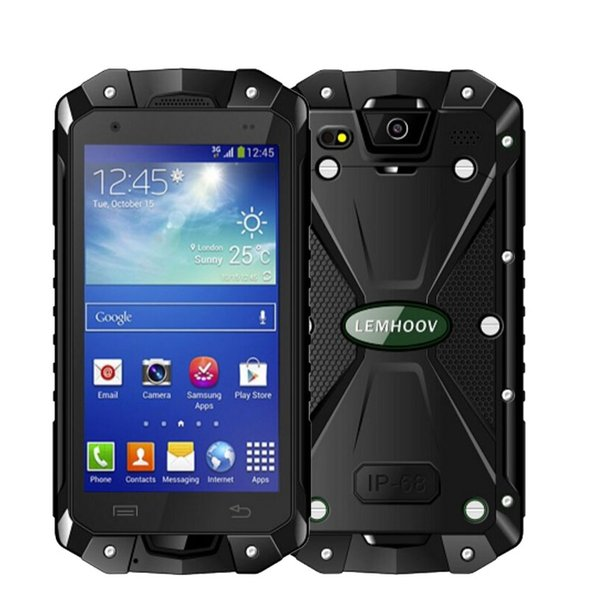 L15 Smartphone 1GB RAM 8GB ROM IP68 Waterproof phone Rugged Android Smartphone 4.5 Inch MTK6582 Quad Core GPS Dual SIM Smartphone Hot Sale