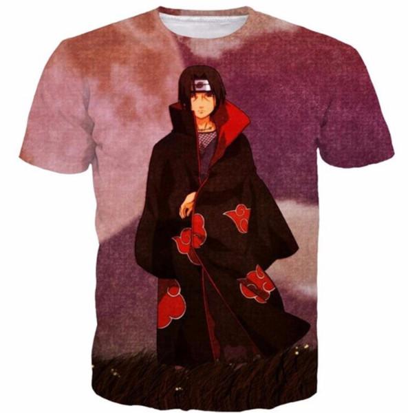 Classic Anime Vintage Harajuku Style Tee Shirt Naruto Uchiha Itachi 3D T Shirt Tees Men Women Anime T Shirts Hip Hop Tops S-5XL H32