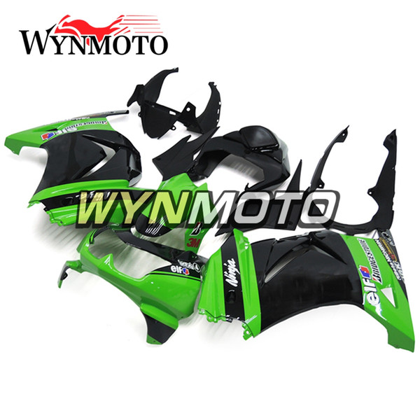 Carenados para Kawasaki Ninja 250 EX250R 2008-2012 Verde Negro Inyección ABS Kit de carenado de la motocicleta Cubiertas Carrocería Carenes Nuevo