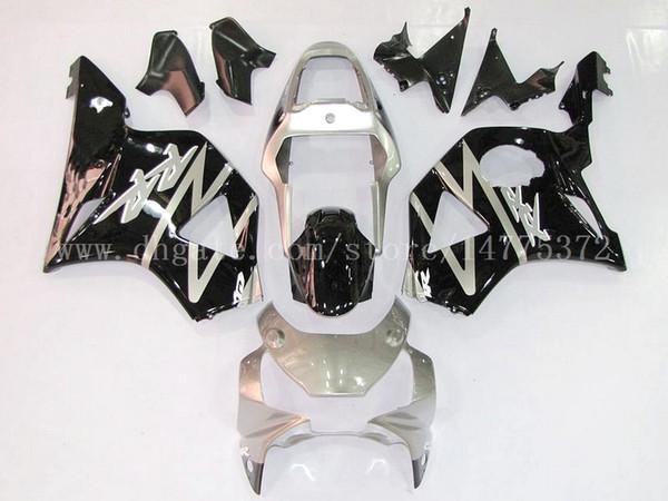 Black silver fairings+gifts fit for HONDA CBR900RR 954 2002-2003 CBR900RR 02-03 CBR900 RR 2002-2003 954 fairing kits #f8m23