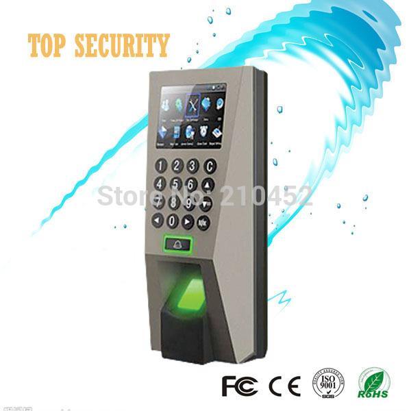 Vente en gros- F18 biométrique présence d'empreintes digitales temps et écran de contrôle d'accès couleur avec clavier et TCP / IP USB contrôle d'accès de porte