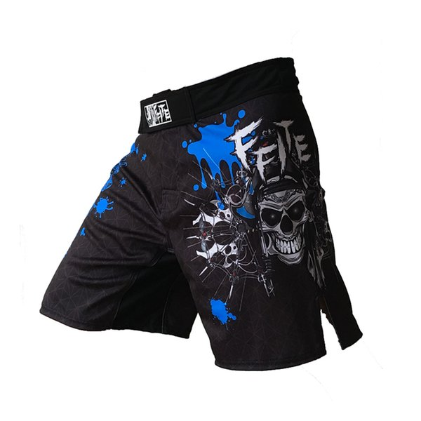 Ffite Mens Boxing Pants Printing Mma Shorts Men Fight Cheap Short Black Kickboxing Muaythai Pants Thai Boxing Shorts Mma Trunks