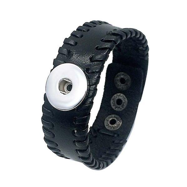 Großhandel fashiong 162 Echtes Leder Armband Austauschbar 18mm Ingwer Snap Charm Armband Schmuck Noosa Armband