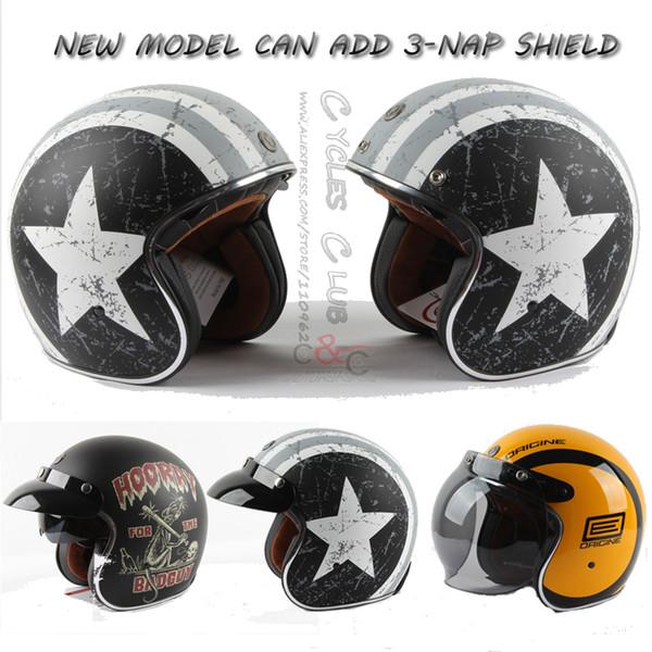 Wholesale- TORC helmet casco capacete vintage motocross helmets T57 moto cafe racer motorcycle scooter 3/4 retro open face helmet with ECE