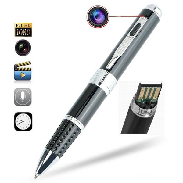 Wholesale 1080p HD mini camera pen camcorders avi HD pen Camera Pen recorder DVR support 32 G Micro SD Card mini camcorder