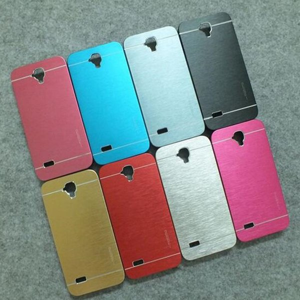 De lujo de calidad superior de metal cepillado caja de oro Motono para Huawei P7 P9 Plus P8 Lite luminum PC dura delgada cubierta trasera de la piel