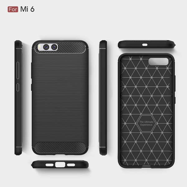 CellPhone Bag Cases For Xiaomi Mi6 Carbon Fiber heavy duty shockproof armor case for Xiaomi Mi6 2017 hot sale Free shipping