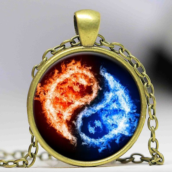 NEW 2016 Wholesale crystal jewelry pendant necklace Wicca Yin yang gifts fashion jewelry