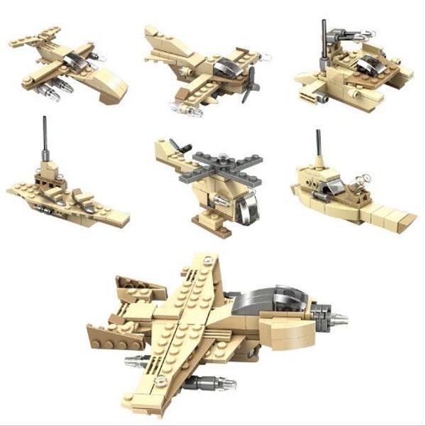 Building Blocks Army DIY Bricks Fighter Airplane Aircraft Model Gift For Children For Children Birthday YH532