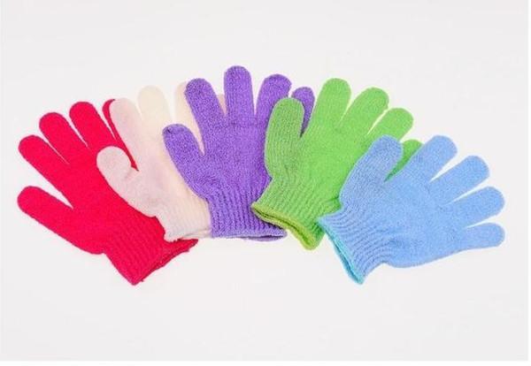 best selling Exfoliating Bath Glove Five fingers Bath Gloves Bathroom Accessories Nylon gloves Bathing Supplies Bath products 500PCS