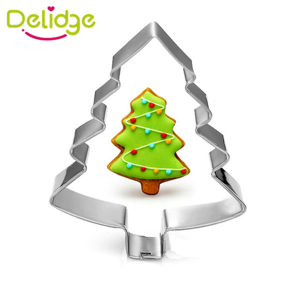Wholesale- 1 pc Christmas Tree Snowflake Santa Claus Shape Cookie Mold Stainless Steel Christmas Series Cookie Cutter Mousse Baking Ring