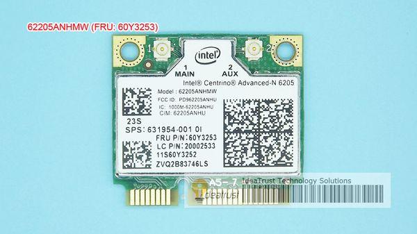 Wholesale- For Intel 6205AN Centrino Advanced-N 6205 62205ANHMW FRU 60Y3253 300M 5G WiFi Wireless Network Card for Thinkpad x220 x230