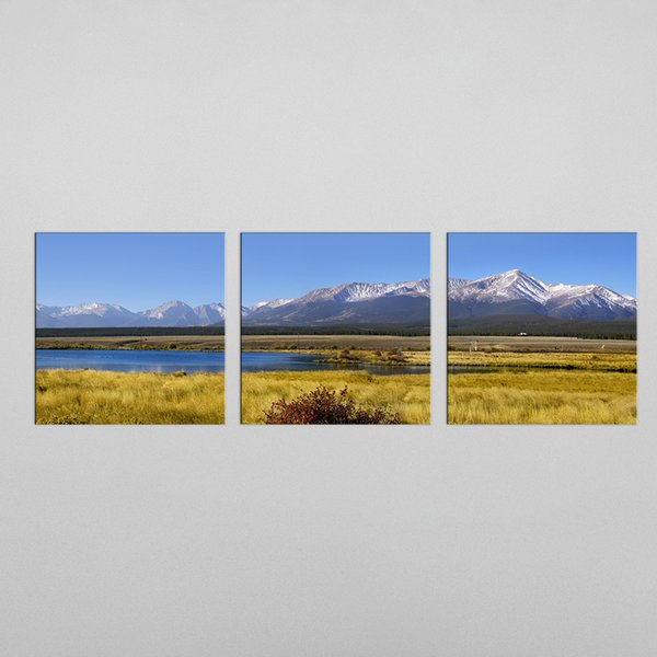 3 Piece Modern Wall Decor Painting Mountain Landscape Art Print Decorative Digital Picture Canvas Printing For Home Decoration