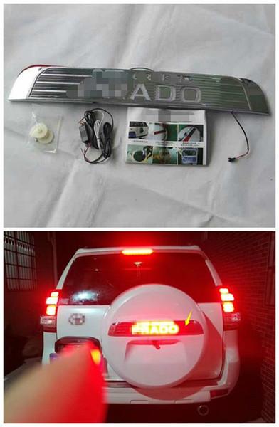 Backup Tire Cover Led Letters Brake Lights For Toyota Prado FJ150 2010-2017 1PCS