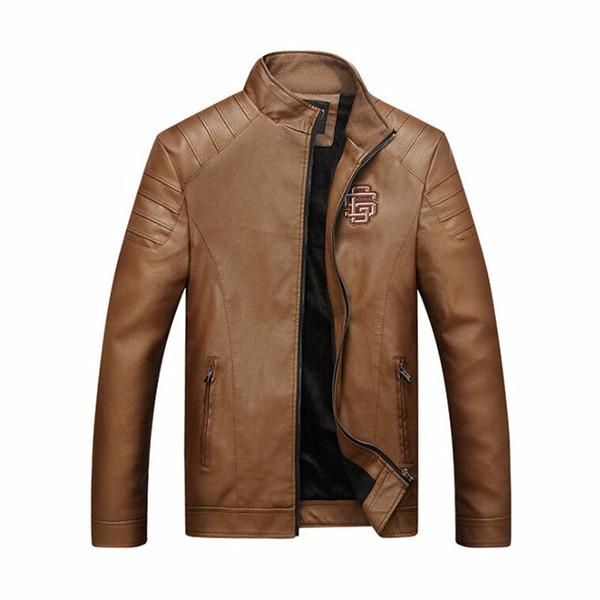 Wholesale-Motorrad Lederjacke Männer chaqueta Jaqueta Couro Masculino Bomber Lederjacken Mantel jaqueta de couro masculina