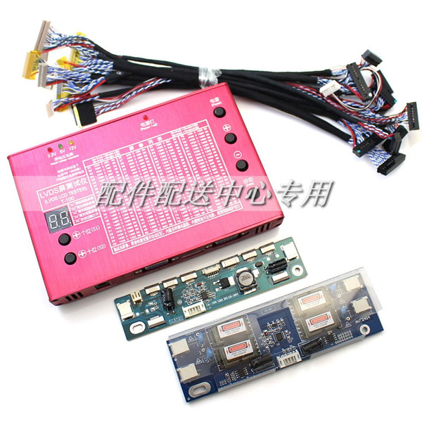 "Freeshipping Aluminum Shell Laptop TV LCD/LED Panel Tester 7-84"" Built-in 100 programs w/ LVDS Cables& Inverter & LED Board"
