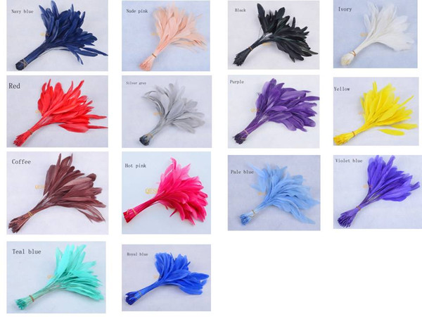 best selling FREE SHIPPING,14-19cm cocktail feather for fascinator sinamay hat party mask wedding hat,8 colors.14 COLOURS