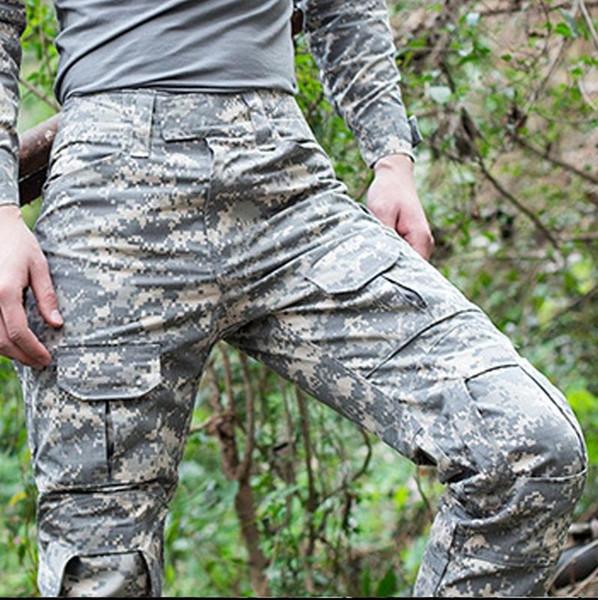 Uniforme tattica di combattimento all'aperto di alta qualità 2017 uomini dell'esercito commando tuta mimetica mimetica tuta allenamento cargo pantaloni